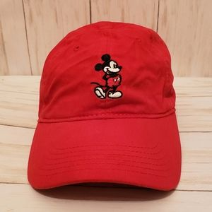 Disney Classic Mickey Mouse Red Adult Baseball Cap